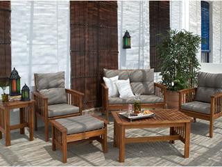 Conjunto de jard n new morocco madera de acacia carrefour for Conjunto jardin madera